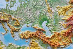 Европа рельефная